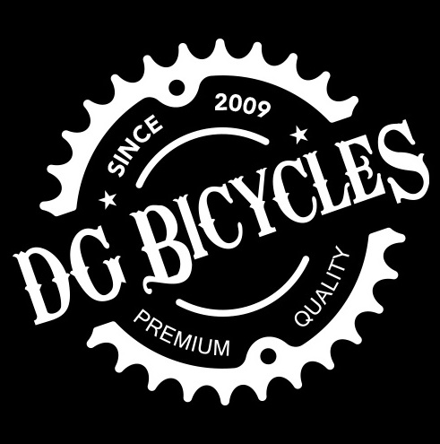 dg cycles logo - black background